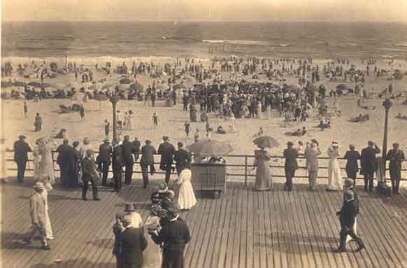 Beach and Boardwalk, circa 1910